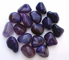 5 x PURPLE AGATE POLISHED 18mm - 25mm * CRYSTAL * TUMBLESTONES STONES PEBBLES