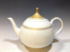 Lorenz Hutschenreuther Porcelain Tea Pot Poesie Pattern White/Gold Trim Germany