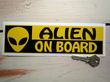 ALIEN ON BOARD Funny Bumper Car STICKER Paul Movie Humorous Novelty Decal Vinyl