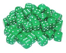 50 Green Dice, 12mm , D6 (6 sided)