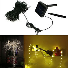 72ft Warm White Solar Power 200 LED String Fairy Light For Outdoor Party Xmas