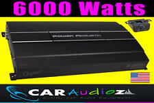 POWER ACOUSTIC HIGH QUALITY 6000 WATT CLASS D MONOBLOCK CAR AUDIO AMPLIFIER MONO