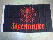 3X5FT 90x150cm Jagermeister flag with black sleeve 120g free shipping