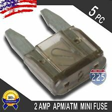 5 Pack of 2A Mini Blade Style Fuses APM/ATM 12V Short Circuit Protection RV US