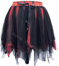 Dark Star Tie Dye Gothic Zig Zag Hem Mesh Mini Skirt Witch Fairy Festival