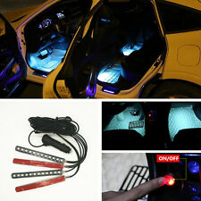 12 LED Ice Blue Car Cigarette Lighter Atmosphere Light Decor Neon Interion Lamp