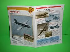 SUPERMARINE ATTACKER AIRCRAFT FACTS CARD AIRPLANE BOOK 56