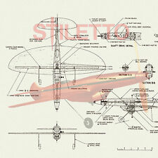 Model Airplane Plans Vintage Control Line Proto Speed Plane 1/2A Span 14""