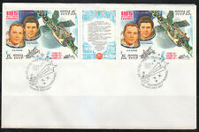 Soviet Russia 1981 Space cover 185 days docking in space Soyuz-35/37 Salyut-6