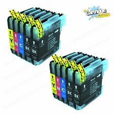 10PK New LC61 Ink Cartridges For Brother MFC-295CN MFC-385CW MFC-490CW MFC-290C