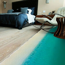 Removable 3D Beach Art Wall Sticker Floor Home Decor Decoration Living Room