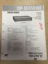 Sony Service Manual for the CDP-307ESD CDP-950 CD Player ~ Repair mp