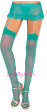 "Sheer NYLON STOCKINGS Classic Sheer for use w/GARTERS Stretches to 24"" round OS"