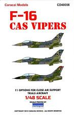 Caracal Decals 1/48 F-16 VIPER CAS CLOSE AIR SUPPORT TRIALS AIRCRAFT