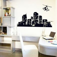 CITY AT NIGHT POSTER GLOW IN THE DARK NEW STICKER WALL ART LIVING ROOM DIY DECOR