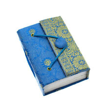 Fair Trade Handmade Mini Blue Sari Journal - 2nd Quality