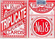 Triplicate No. 18 Red Deck Playing Cards Poker Size USPCC Restoration Sealed New
