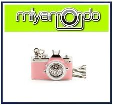 Camera Shape Metal Crystal Key Chain (Pink) 32GB USB Drive Thumb Drive Pen Drive
