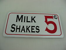 MILK SHAKES Sign Metel vintage soda fountain billiard game room kitchen Diner