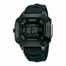 PULSAR WORLD TIME DIGITAL CHRONOGRAPH DAILY ALARMS DATE MEN'S WATCH PW3003 NEW