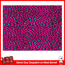 PINK LEOPARD PRINT STICKERBOMB SHEET- X1 - A3 SIZE -KEN BLOCK/ HOONIGAN STICKERS