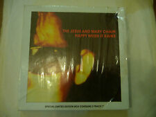 "THE JESUS&MARY CHAIN""HAPPY WHEN IT RAINS-BOX with nr 3 RECORDS-LIMITED EDITION"