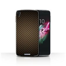 STUFF4 Case/Cover for Alcatel Idol OneTouch 3 5.5/Carbon Fibre Effect/Pattern