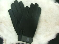 Equestrian horseback horse riding gloves BLACK LARGE