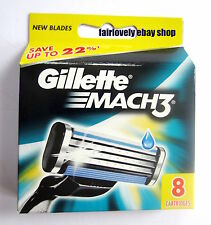 GENUINE Gillette Pack of 8 Mach 3 Razor Blade Cartridges **SPECIAL OFFER**
