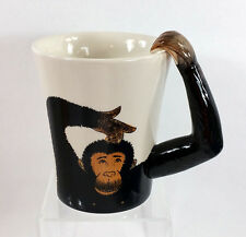 Monkey Ape Arm Large Coffee Cup Mug Pier 1 Imports Handpainted Stoneware