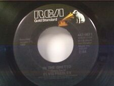 "ELVIS PRESLEY ""IN THE GHETTO / ANY DAY NOW"" 45"