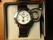 Wenger Swiss Military Swing-out Compass Watch, Brand New In Box