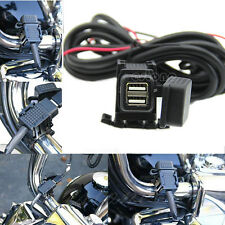 New Waterproof Motorcycle Mobile Phone Dual USB Power Supply Port Socket Charger