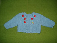 Puppenmode Puppenkleidchen Strickjacke  für 70 cm Puppe Handarbeit