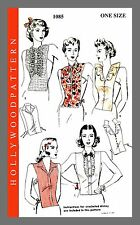 Vintage Hollywood Set Of Dickeys Fabric material sewing pattern # 1085