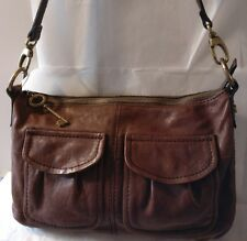 FOSSIL ZB4519 Modern Cargo Convertible Leather Shoulder Bag Handbag Hobo Tote