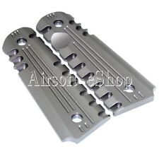 Airsoft Army Force CNC Aluminum Pistol Grip Cover For M1911/M.E.U. Charcoal Grey