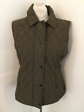 EUC Barbour Ladies Quilted Sporting Gilet  Vest US 12 UK 16 M L Army Green