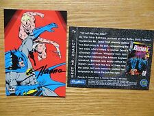1994 BATMAN SAGA OF THE DARK KNIGHT MR. ZSASZ CARD SIGNED SCOTT HANNA, WITH POA