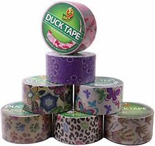 7 Count Duck Set Duct Tape Rolls Crafts Assorted Colors & Printed Patterns