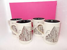 4 MUGS BY LAUGHARNE POTTERY (treherbert english methodist church centenary)
