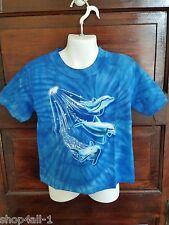 NWOT  DOLPHINS SWIMMING GRAPHIC TIE DYED T-SHIRT KIDS XSMALL WILD GEAR KIDS
