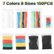 150pcs 8Size Assortment 2:1 Heat Shrink Tubing Tube Sleeving Wrap Wire Cable Kit