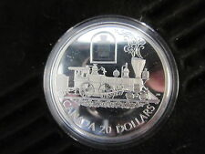 2000 Canada Silver 20 Dollars Coin The Toronto Rail Transportation w/ Case