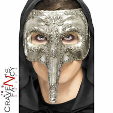 Luxury Venetian Capitano Mask Halloween Mens New Fancy Dress Costume Accessory