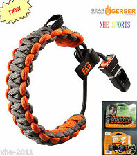 Gerber Bear Grylls Survival 1-ounce Paracord Bracelet + Whistle 31-001773 Aussie