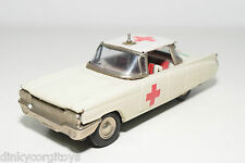 TINPLATE BLECH JAPAN FORD CHEVROLET AMBULANCE CAR EXCELLENT CONDITION