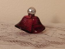 Vintage Avon Red Christmas Bells Cologne Glass Decanter