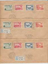 B2842: (6) Iceland #253-256 UPU First Day Covers