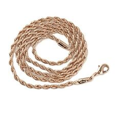 "Free Shipping 18k Rose Gold Filled Charm Necklace 24""Link Fashion Jewelry NEW"